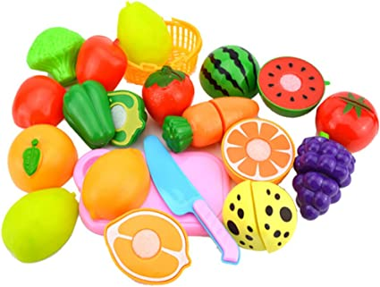 23PCS Cutting Food Vegetable Set Pretend Play Kitchen Toy Gift for Children Kids