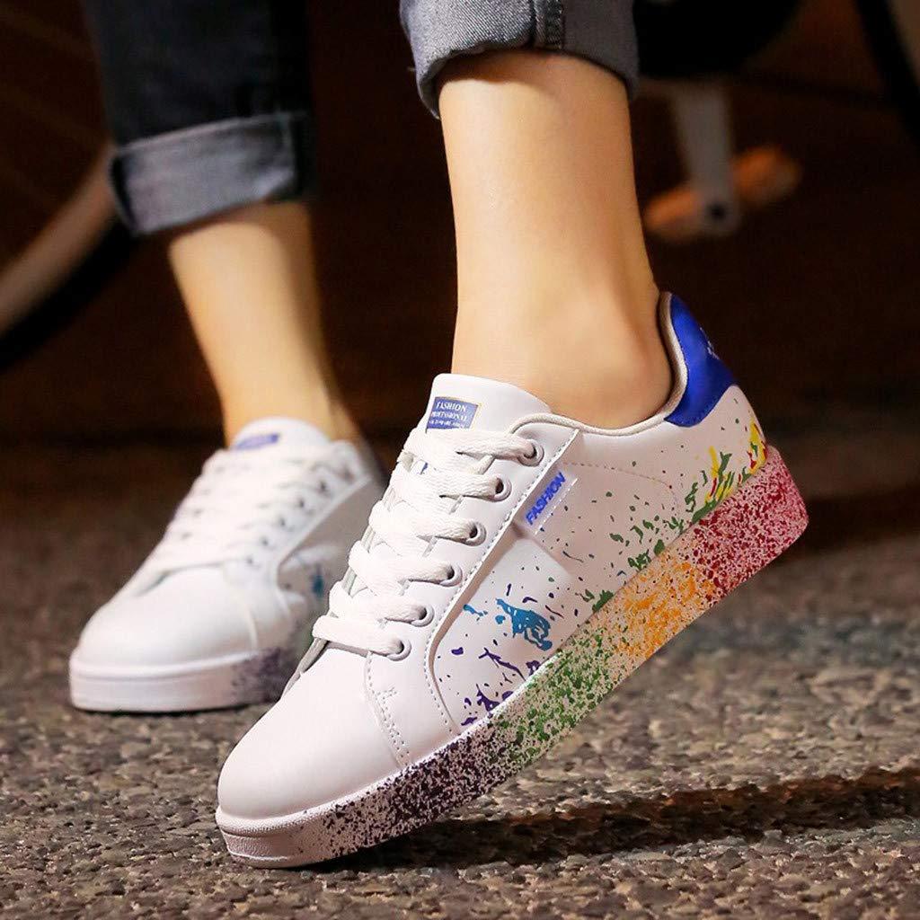 LOVELYOU Baskets Femmes Chaussures Hommes Sport Mode Mixte Adulte / Couple de Blanc Baskets