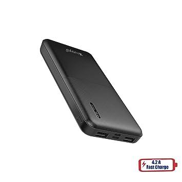 Xnuoyo 10000mAh Slim Power Bank Cargador Portátil Tamaño Compacto Ligero Batería Externa Powerbank de Alta capacidad con Indicadores LED ...