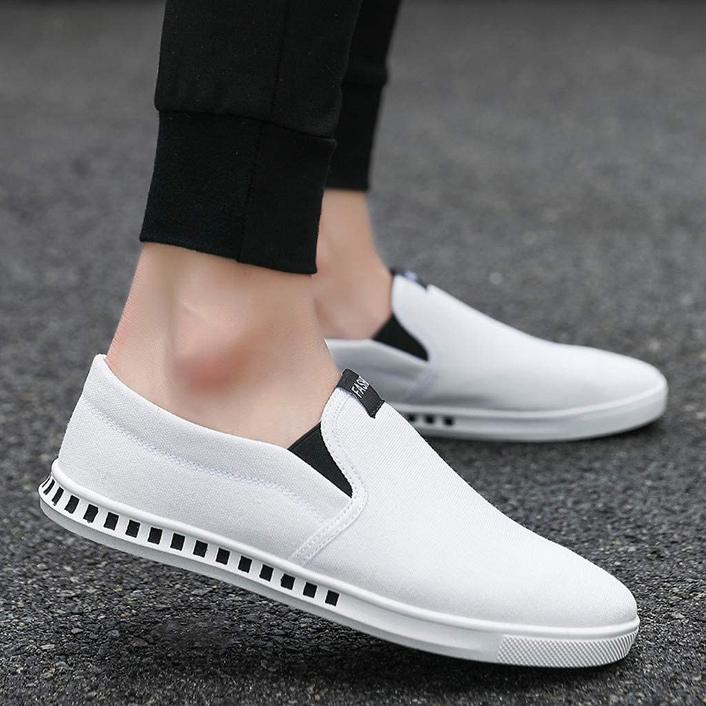 Nebwe 2019 Fashion Casual Shoes High-Top Flat Shoes Mens Sports Sneakers Canvas Shoes Summer