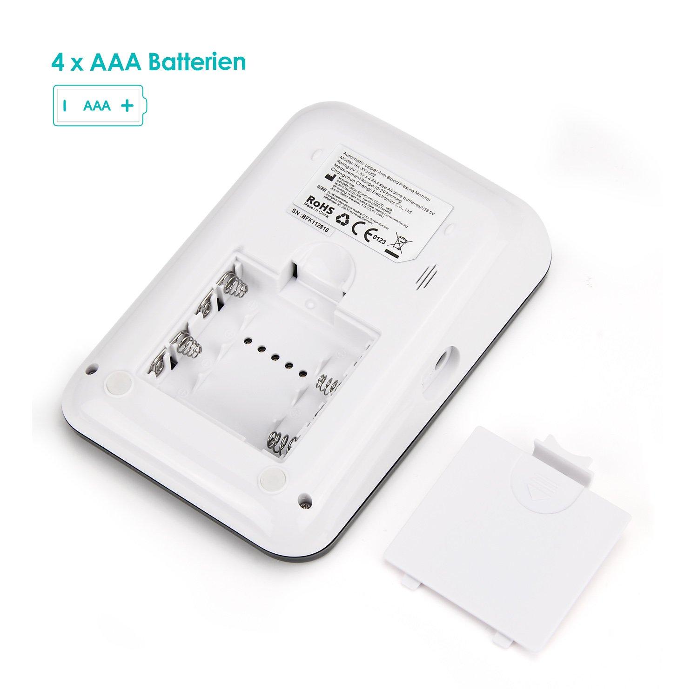 Simbr - Tensiómetro de brazo (completamente automático, con iluminación de fondo, 180 memorias para dos usuarios, mayor autonomía): Amazon.es: Salud y ...