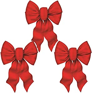 Rocky Mountain Goods Large Wired Red Bow - 12