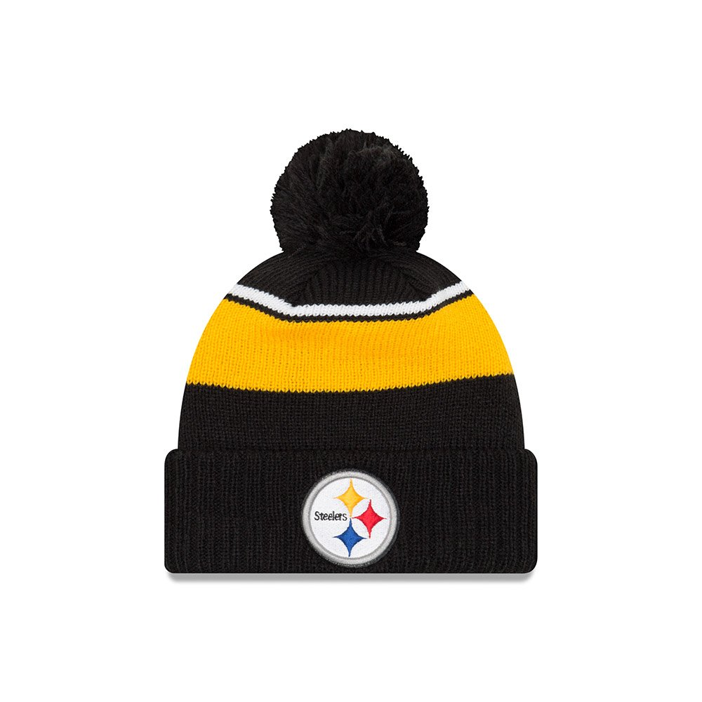 298fa2e25fc652 Amazon.com : Pittsburgh Steelers New Era Call Out Cuff Pom Knit Beanie Hat  / Cap : Sports & Outdoors