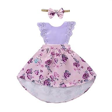 PAOLIAN Conjuntos para bebé niñas Trajes a juego de hermanas Verano 2018 Vestidos o (Vestidos