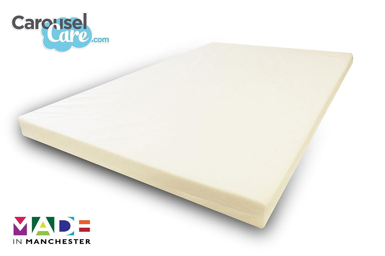 Para cama individual | 2,54 cm con texto en inglés | IKEA/EURO hipoalergénico ortopédico de cubrecolchón de espuma viscoelástica | Incluye funda extraíble ...