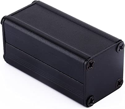 Caja electrónica de aluminio extruido negro caja de proyectos PCB ...