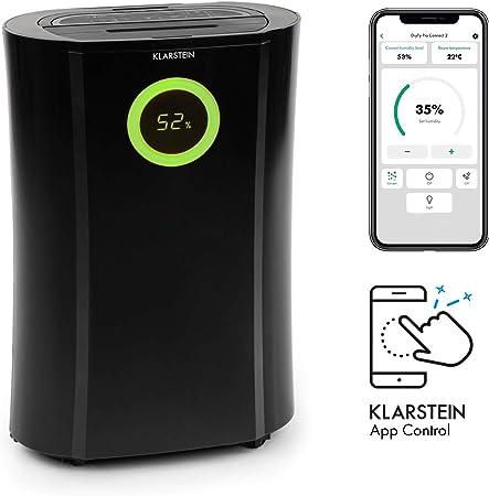 KLARSTEIN DryFy Pro Connect deshumidificador - deshumidificador de compresión, purificador de Aire Integrado con Filtro, ionizador y función UV, Interfaz WiFi, Potencia 370W, Negro: Amazon.es: Hogar