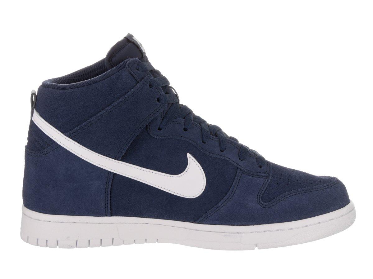 Nike, Uomo, Dunk Hi, Suede / Pelle, Sneakers Alte, Blu, 45 EU
