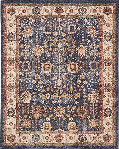 Carpet Turkish Designs (Traditional Persian Rugs Vintage Design Inspired Overdyed Fancy Light Blue 8' x 10' Afshan St. James Area Rug)