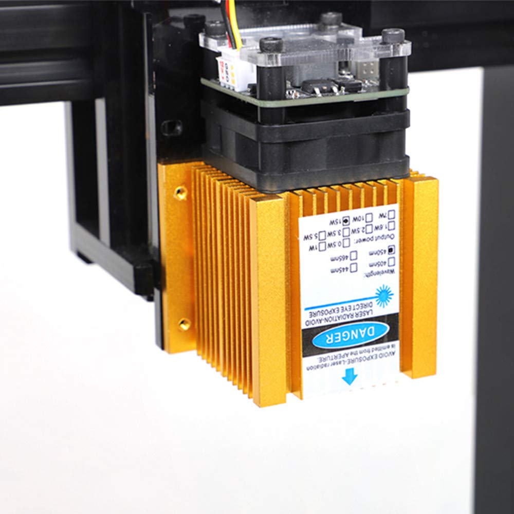machine de gravure au laser cylindrique DIY Imprimante de gravure au laser USB 15W winXP TOPQSC win8 zone de travail 100 x 200 mm traceur de d/écoupe de bureau portable pour Win7 win10