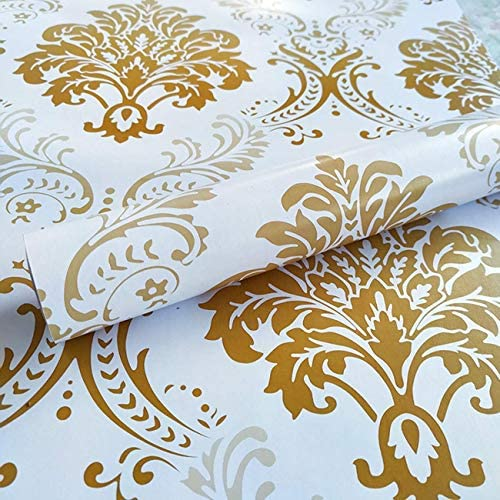 Buy Nyal Enterprise Pvc Floral Wall Sticker 45 X 600 Cm Golden Online At Low Prices In India Amazon In