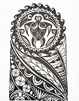 Hommes Tribal Tattoo Noir Hb857 Bras Tatouage Autocollants Maori Et