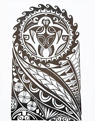 Uomini Tribal Tattoo Nero Hb857 Braccio Adesivi Tatuaggio Maori E