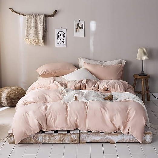 Amazon.com: King Duvet Cover Blush Bedding Sets King Comforter