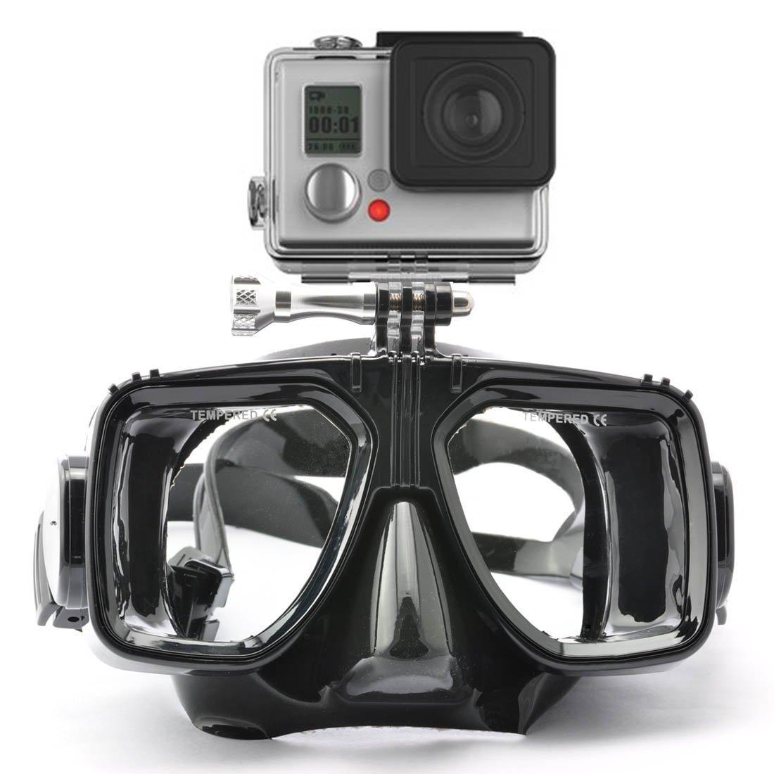 HLC - Gafas de Buceo (Compatibles con las Cámaras GoPro Hero 1, 2, 3, 3+, 4) con Snorkel, Color Negro: Amazon.es: Deportes y aire libre