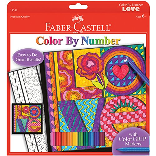 Faber-Castell - Color By Number Love Art Kit - Premium Kids Crafts by Faber Castell