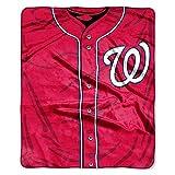 Washington Nationals 50x60 Royal Plush Raschel Throw Fleece Blanket - Jersey Design - MLB Licensed