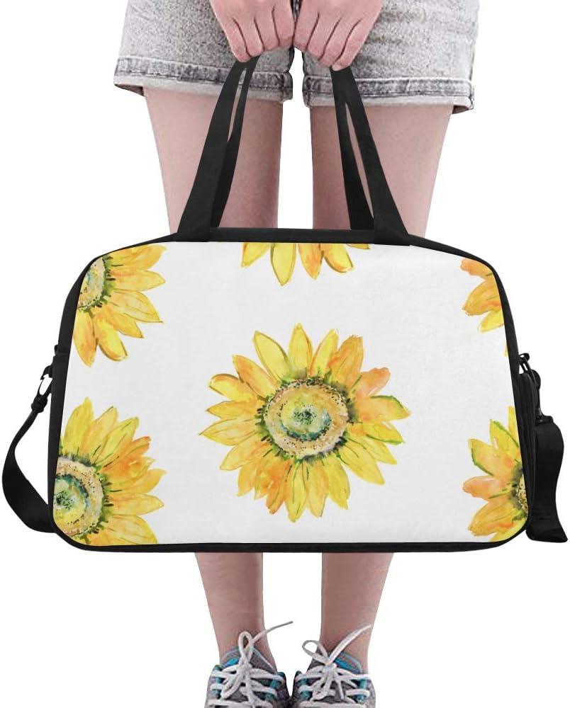 Duffel Bag Beautiful Sunflowers Women Garment Gym Tote Bag Best Sports Bag for Boys
