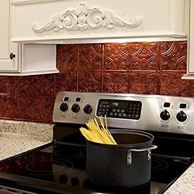 Fasade Easy Installation Traditional 1 Backsplash Panel for Kitchen and Bathrooms