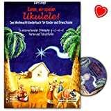 Come on, let's play ukulele! Christmas album for kids and adults with CD and colourful heart shaped music clip