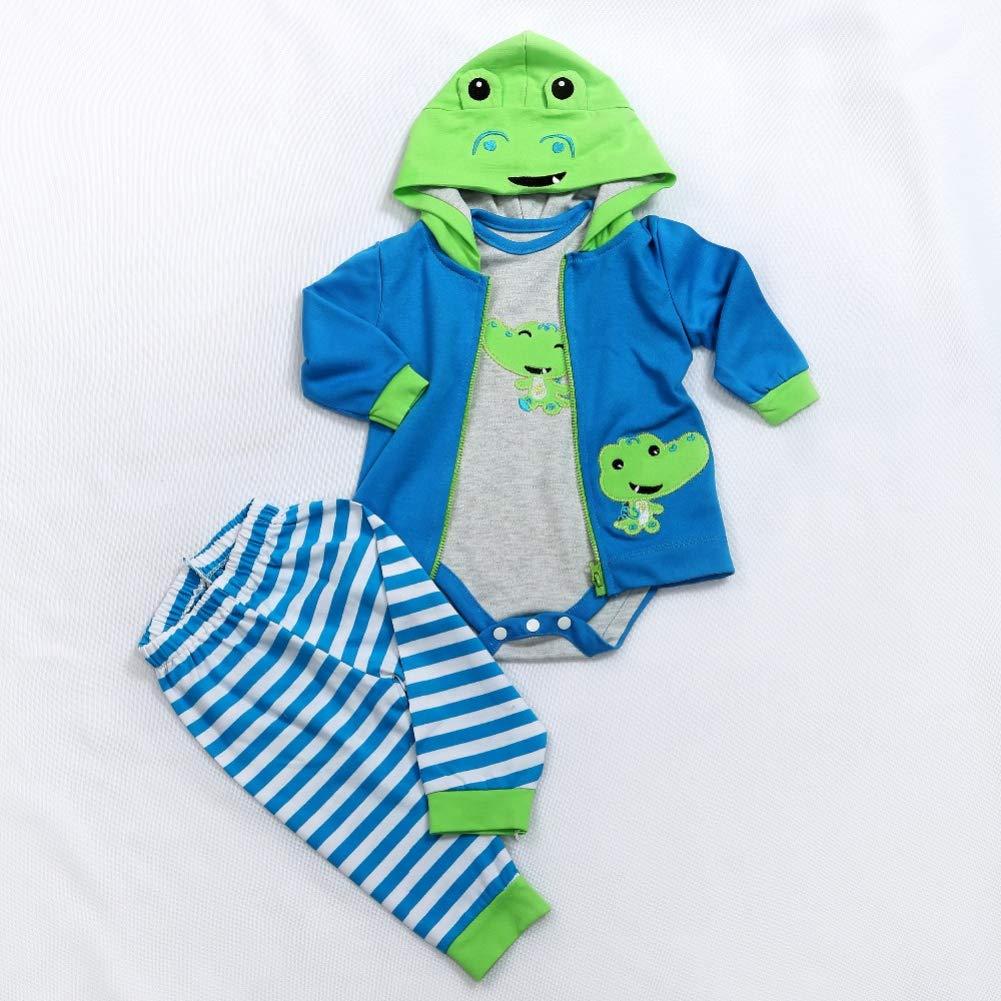 Simulare vestiti di cotone con stampa di fumetti per bambole da 58 a 60 cm DragonPad
