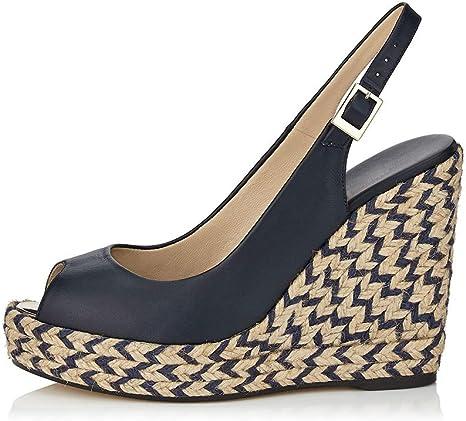 Zapatos Mujer Cuna Alpargatas Mwoook 1128 Moda Tallas Grandes Plataforma Zapatos De Tacon Alto De Playa Fiesta Sandalias Amazon Es Deportes Y Aire Libre