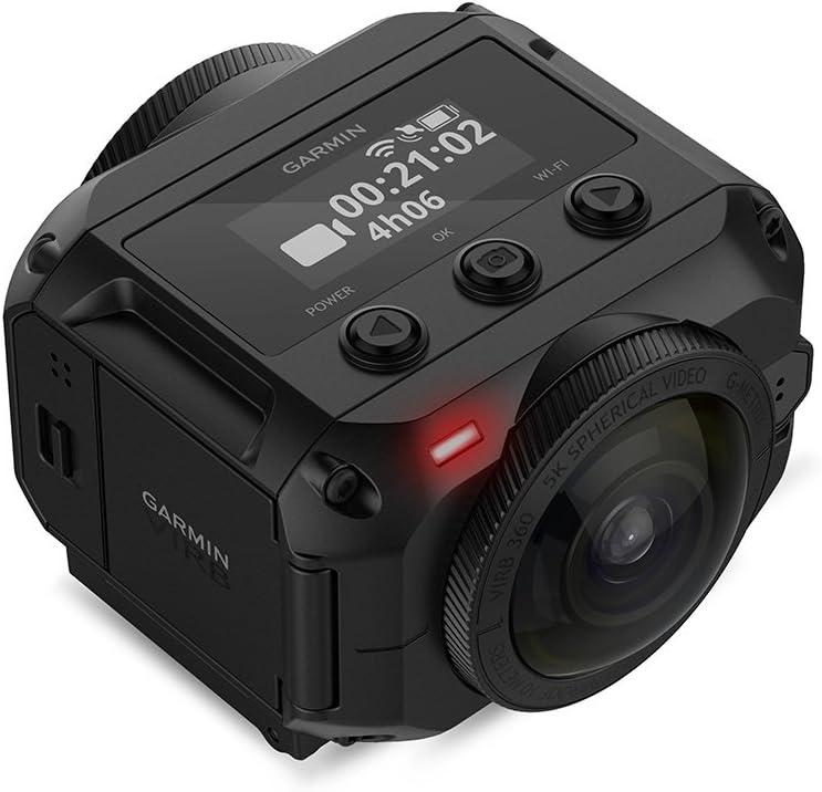 Garmin VIRB 360 C&ampaacutemara de accci&ampoacuten con GPS y Control de Voz incorporados, Unisex, Negro, Talla Única