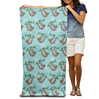 Three Toed Sloth Teens Beach Towel, Pool Towel,Sport Towel,Thick, Soft, Quick Dry, Lightweight, Absorbent