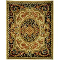 Safavieh Savonnerie Collection SAV206A Handmade Traditional European Ivory and Gold Wool Area Rug (9 x 12)