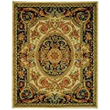 Safavieh Savonnerie Collection SAV206A Handmade Traditional European Ivory and Gold Wool Area Rug (9' x 12')