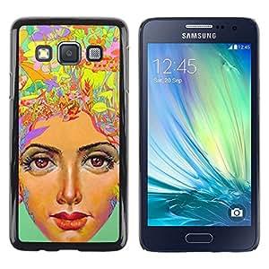 Be Good Phone Accessory // Dura Cáscara cubierta Protectora Caso Carcasa Funda de Protección para Samsung Galaxy A3 SM-A300 // thinking a lot