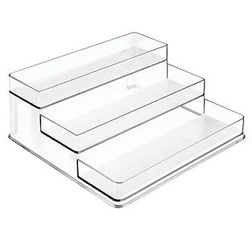 InterDesign Linus Spice Organizer Rack U2013 3 Tiered Storage For Kitchen  Pantry, Cabinet,
