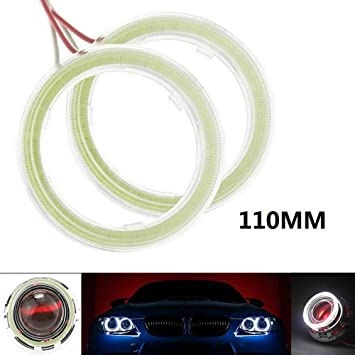 70mm 1 Pair Angle Eyes Led Ring DRL Halo Ring 60mm 70mm 80mm 90mm 100mm Angel Eyes COB Chips Headlight DRL for Motorcycle Car