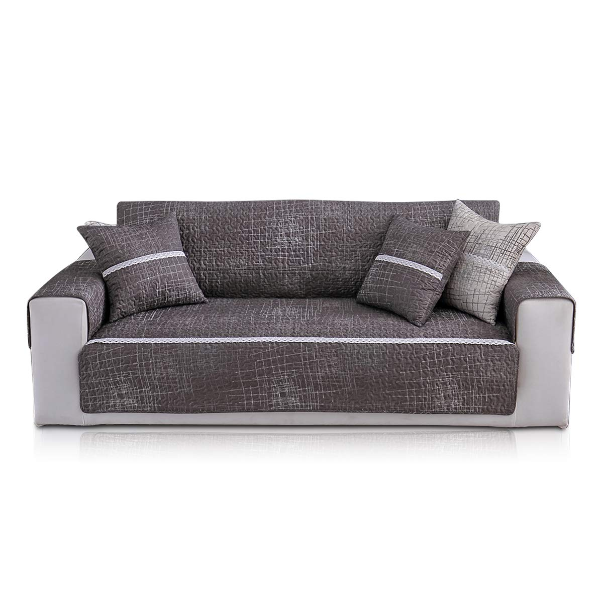 PETCUTE Sofa Covers Cotton Sofa Slipcovers Elegant Sofa Predector Sofa Throw Couch Covers Armchair Covers 1 Seater