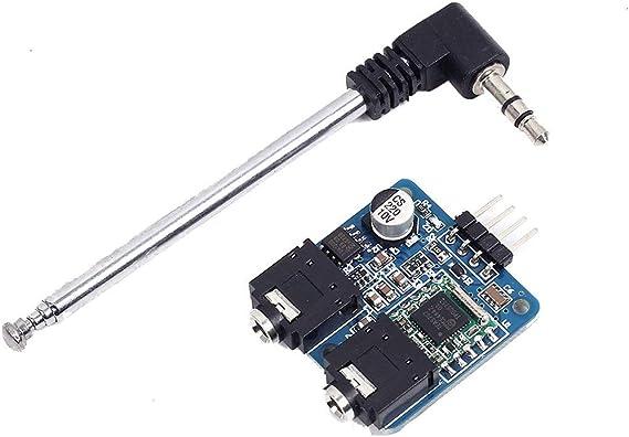 ICQUANZX Módulo de Radio FM estéreo TEA5767 con Antena telescópica 76-108MHZ para Arduino