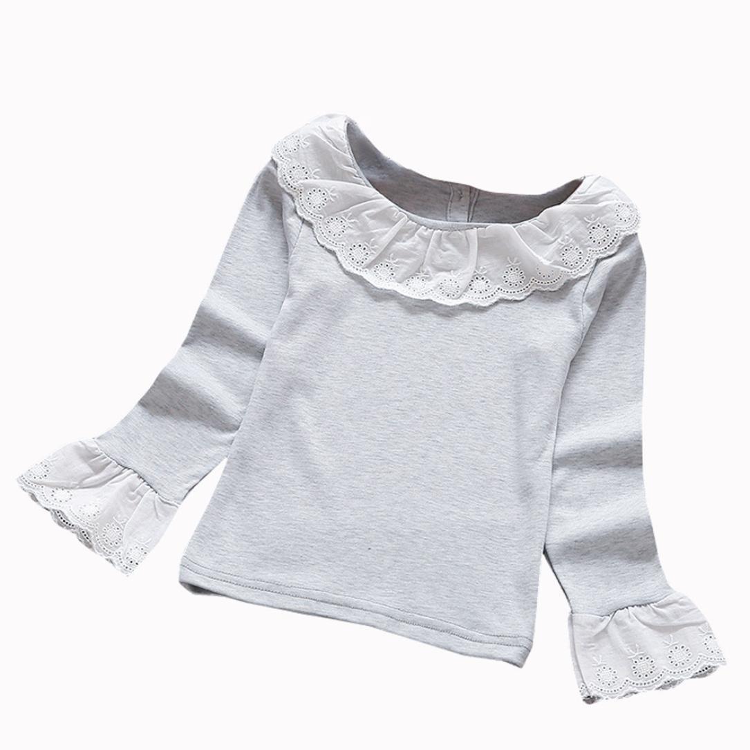 Amlaiworld Bebé Niñas Moda casual Volantes Camisetas Tapas Blusa Ropa (5-6 Años, Blanco): Amazon.es: Bricolaje y herramientas