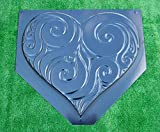 Decorative Heart Stepping Stone for garden Mold Concrete Mould ABS plastic #S31