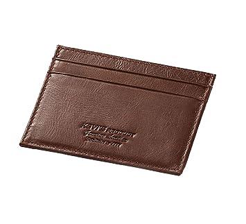 4970021f5fcde Mnory Leder Vintage Geldbeutel Arbeit Portemonnaie Business Portmonee  Tasche Herren Verschleißfest Brieftasche Mode Geldbörse Retro Wallet
