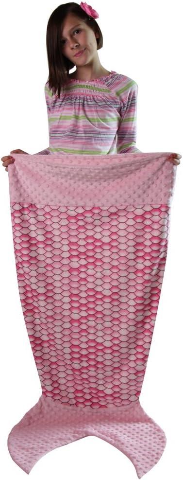 Infant - 24, Purple Snuggle Stuffs Girls Scales Minky Dot Velboa Mermaid Tail Blanket