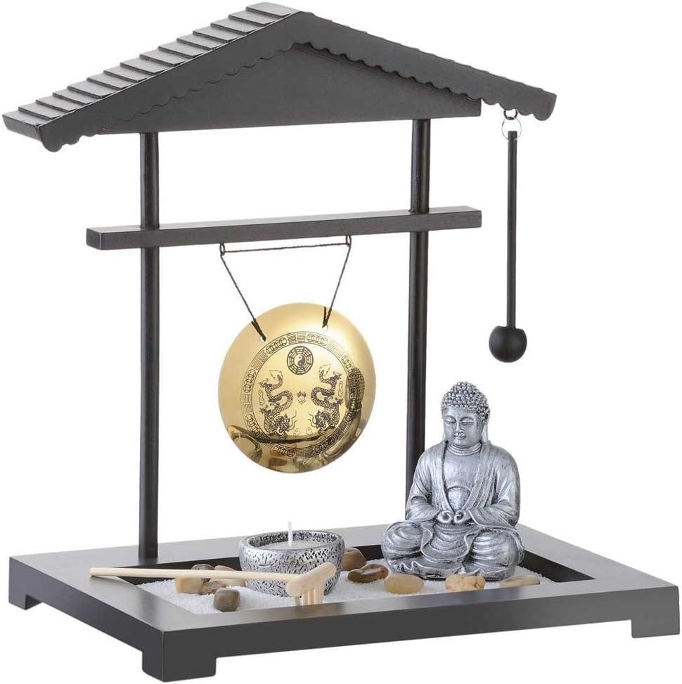 MonsterRegeaux – Figura de Buda para jardín Zen con Gong – Decoración en Miniatura Japonesa: Amazon.es: Hogar