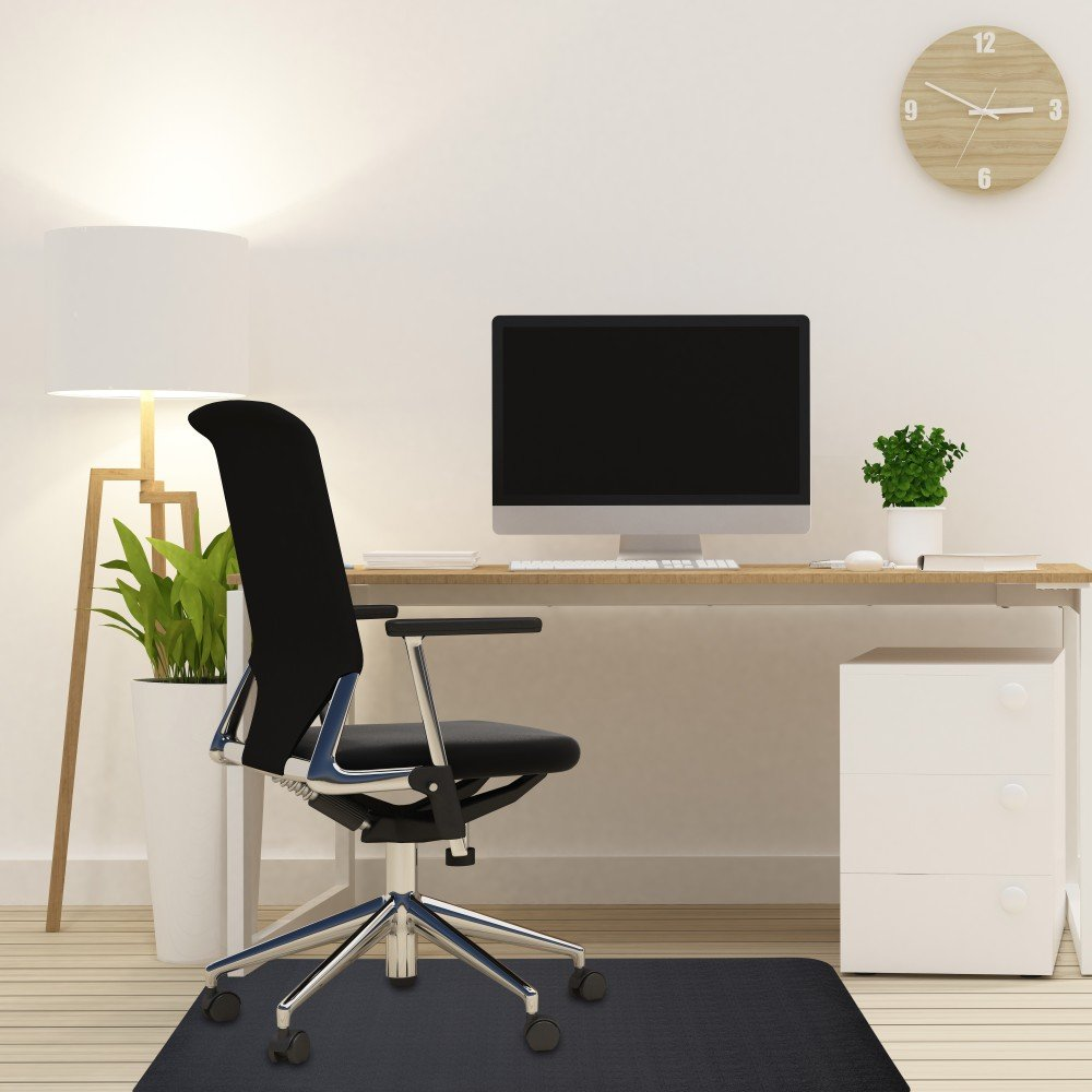 Office Chair Mat For Hardwood And Tile Floor Black Anti Slip