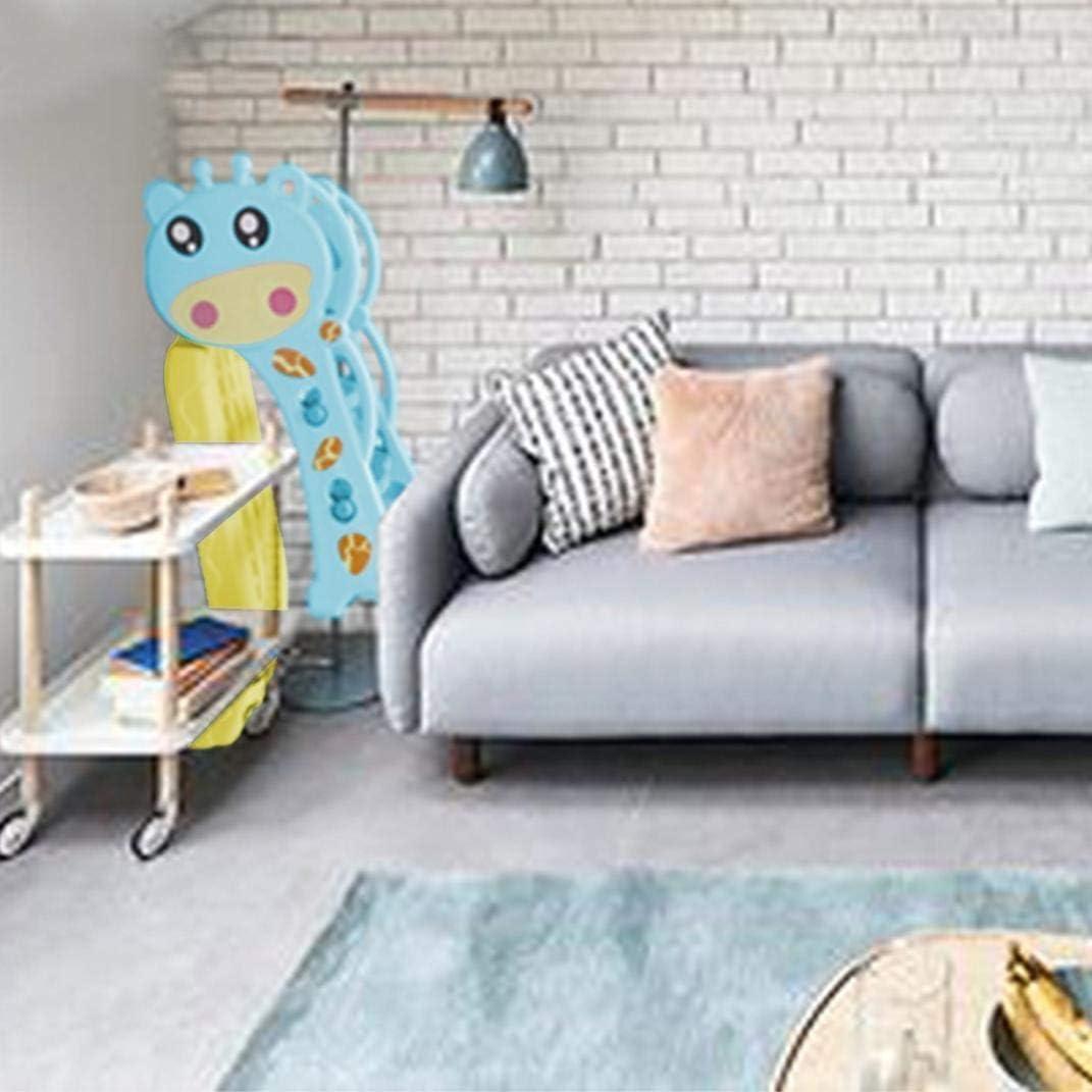 Suitable for Indoor and Backyard Freestanding Slides Garden Playset ZHIJIE Cartoon Shape 3 in 1 Toddlers Basketball Hoop Slide /& Climbing