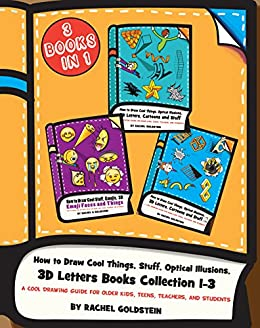 how to draw cool things stuff optical illusions 3d letters books