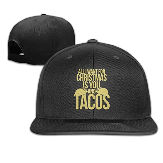 REBELN I Want for Christmas is You and Tacos Adjustable Baseball Cap ... d331e0dfcb14