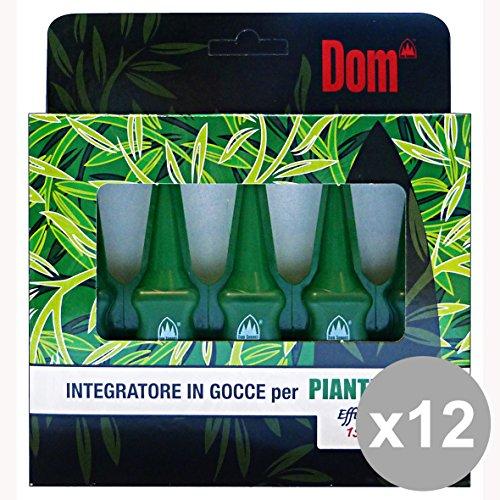 Set 12 DOM Gocce Integratore Piante Verdi 200 Ml. Giardinaggio