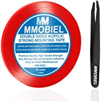 MMOBIEL 1mm Dubbelzijdige Montage Tape Acryl Tape 30m Weerbestendig Verwijderbaar (rood)