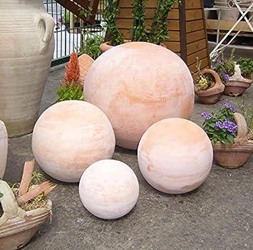 Boule env. 30 cm en terracotta Terre cuite Décoration Jardin: Amazon ...