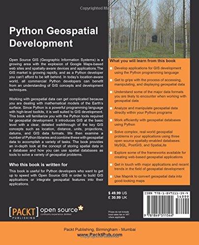 Python Geospatial Development: Erik Westra: 9781849511544: Amazon