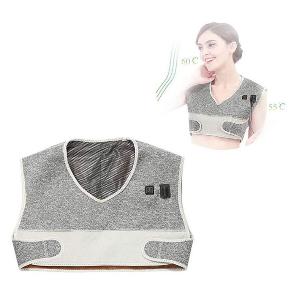 B07P2VHZM9首と肩の電気加熱パッド電気熱灸暖かい肩囲男性と女性肩暖房ショールショルダーホット圧縮ヒートベスト B07P2VHZM9, 木枠屋:2640d831 --- itxassou.fr