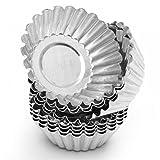 TXIN 20 Pack Egg Tart Aluminum Cupcake Cake